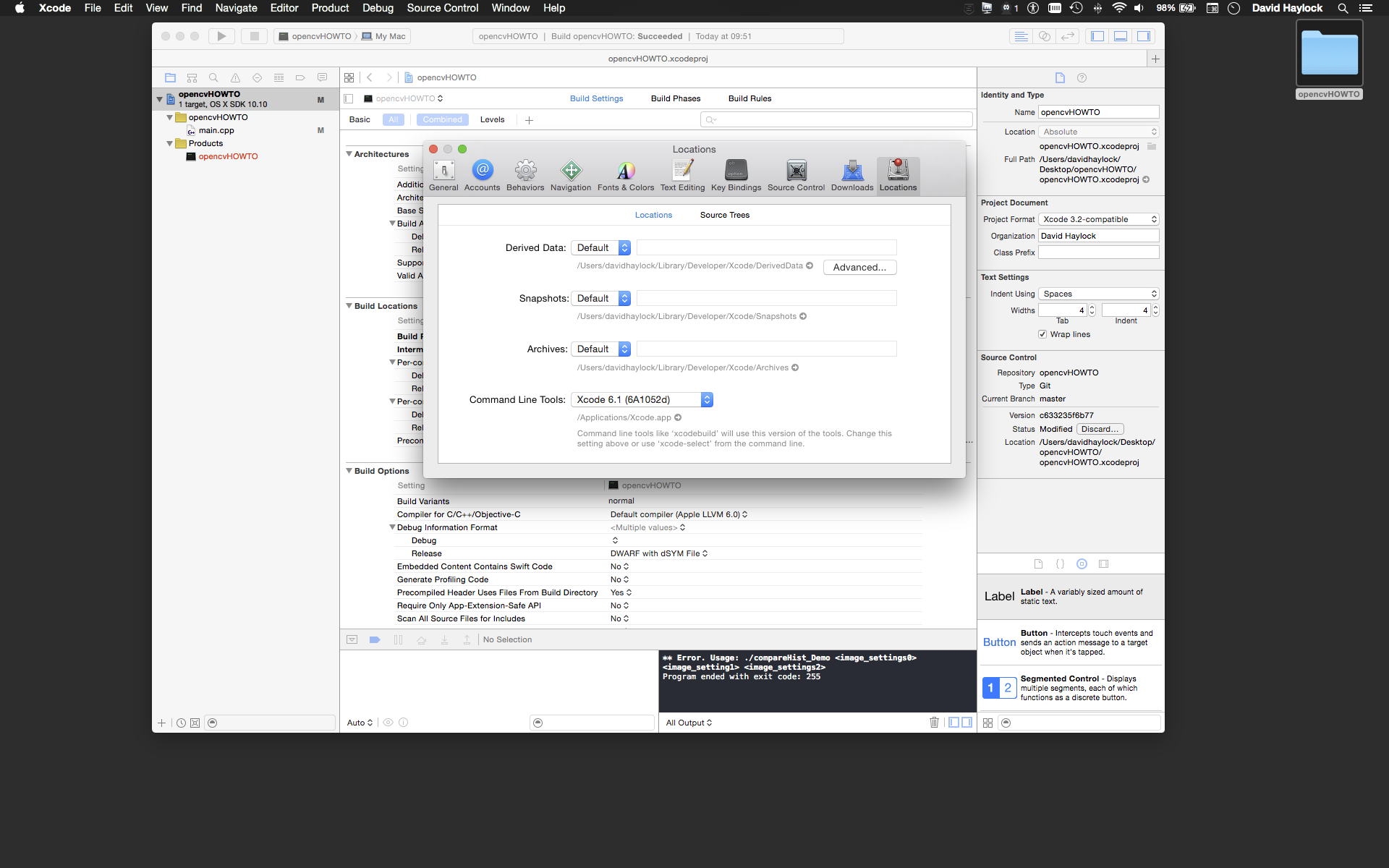 HOWTO: Setup XCode 6 1 to work with OpenCV3 libraries